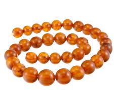 AMBER Natural 43gr Butterscotch Ball Honey Baltic Beads Necklace Antique Vintage