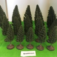 Pine Trees - Plastic Crafted-Model Scenery Railway Wargames Forest Layout OO/HO