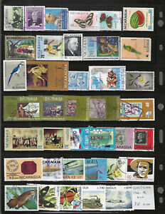 NICARAGUA Air-Mails...#C585//C1006...Mint & Used...1966/82...Coll of 38 Diff