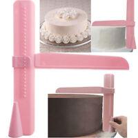 2Pcs/set Cake Smoother Cutter Adjustable Decorating Fondant Sugarcraft Mold