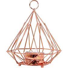 Copper Metal Geometric Pyramid Tea Light Tealight Candle Holder