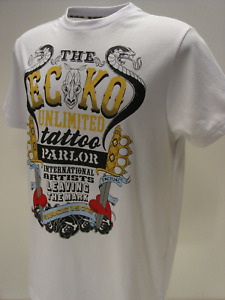 ECKO UNLTD MENS CHARMER WHITE T-SHIRT SHORT SLEEVE SPORTS TOP