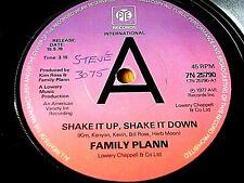 "FAMILY PLANN - SHAKE IT UP, SHAKE IT DOWN  7"" VINYL PROMO"