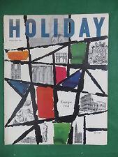 Vintage HOLIDAY Magazine Jan. 1954 GEORGE GIUSTI Cover Art HENRI CARTIER-BRESSON