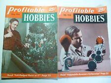 Vintage June July 1950 Profitable Hobbies Craft Magazines Florist Automobile