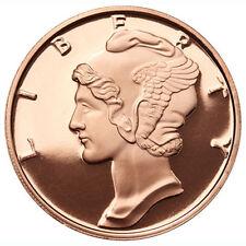 1 oz Mercury Dime Copper Round .999 Fine Copper Bullion