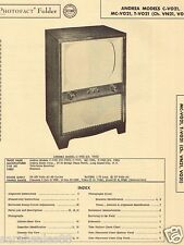 1955 Service Manual Photofact for an ANDREA C-V021 MC  T VN21 TV Television