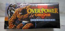 Marvel OverPower Card Game Starter Deck Box Set Unopened Original Factory Seal