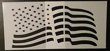 "Usa Us American Flag 8.5"" x 11"" Stencil (2 piece set) Fast Free Shipping"