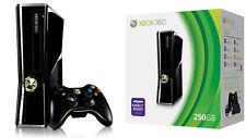 Microsoft Xbox 360 S Launch Edition 250GB Black Console FREE SHIPPING