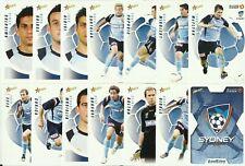 A-LEAGUE 2008/09 SELECT SYDNEY FC COMMON TEAM SET 14 CARDS HYUNDI