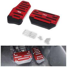 2x Non-Slip Pedal Brake Foot Cover Treadle Belt RED Car Automatic Accelerator