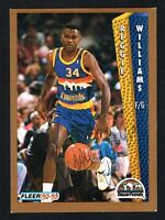 Reggie Williams #61 signed autograph auto 1992-93 Fleer Basketball Trading Card