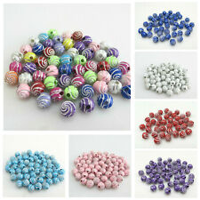 250 x MULTI COLOUR ACRYLIC RONDELLE FLOWER JEWELLERY MAKING BEADS 8mm AB 0166