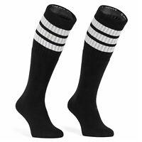 Skatersocks Overknees oldschool Damen Kniestrümpfe Tube Socken 35 Inch weiß