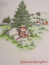 Vintage Mid Century Joan Walsh Anglund Child Print 60's Little Farmer Boy