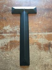 """NOS USA Vintage METAL LETTER """"T"""" Wall Art Industrial Salvage Marquee Sign Black"""