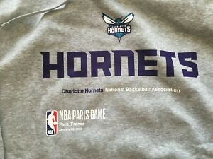 New Nike NBA Charlotte Hornets Hoodie XL Paris Game 2020 Jordan