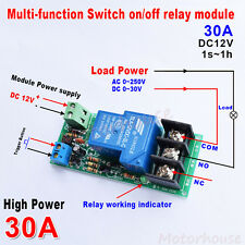 Dc 12v 30a High Power Trigger Delay Turn Offon Timer Switch Timing Time Module