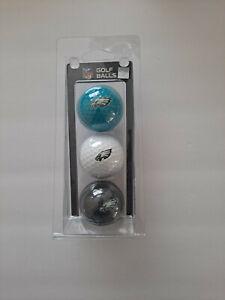 Philadelphia Eagles NFL Regulation Golf Balls 3 Pack Sleeve Putting Club