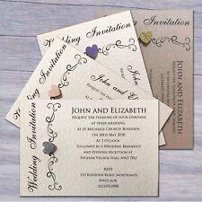 10 Wedding Invitations Evening Invites Personalised & Handmade with Envelopes