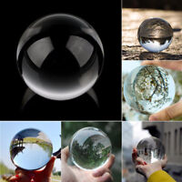 Glass Crystal Ball Healing Sphere Photography Props Lensball Decor Gift NEW