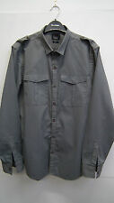 Mens Grey Striped Shirt from River Island size L
