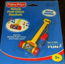 2001 Fisher Price Melody Push Chime Mini Miniature Toy Keychain by Basic Fun