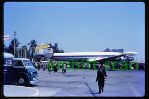 Original Slide, Lufthansa Lockheed L-1049 Super Constellation (D-ALID), in 1959