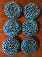 6 Turquoise/peacock --- NYLON NET POT SCRUBBIES