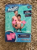 """H2O GO! Fabric Arm Rings - Pink -- 8""""x6"""" Ages 3-6 Free Shipping"""
