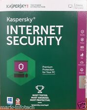 Kaspersky Internet Security 2016 - 1 User 1 Year Antivirus software+ Bill