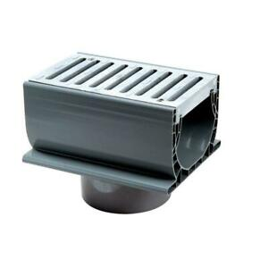NDS 7 in. Spee-D Channel Drain with Grate and 3 in. and 4 in. Bottom Outlet 2351