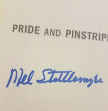 "Mel Stottlemyre SIGNED Autographed Book ""Pride and Pinstripes"" New York Yankees"