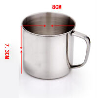 ITS- Outdoor Camping Hiking Stainless Steel Coffee Tea Mug Cup School Gifts HOT