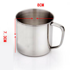 ALS_ ITS- Outdoor Camping Hiking Stainless Steel Coffee Tea Mug Cup School Gifts