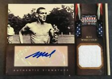 2012 Panini Americana Mal Whitfield USA Olympics Certified Relic Autograph 65/99