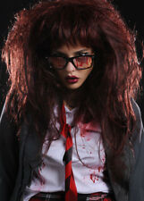 Deluxe Womens Burgundy Zombie Wig