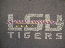 NCAA LSU Louisiana State University Tigers College Football Fan Gray T Shirt M