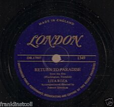 Lita Roza on 78 rpm London 1349: Tell Me We'll Meet Again/Return to Paradise