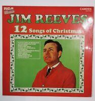 Jim Reeves 12 Songs Of Christmas Cds 1160 Vinyl Record LP EX/EX