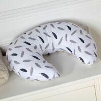 Breast Feeding Maternity Nursing Pillow - Silver Feather