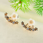 Fashion Women Elegant Crystal Rhinestone Daisy Flower Ear Stud Earrings Jewelry