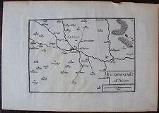 CARTE GOUVERNEMENT D'AUTUN . Par TASSIN. Carte originale de 1633.  Dimensions de