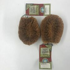 "Down to Earth Small Natural Coconut Coir 4"" Vegetable Brush, Pack of 2"