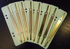 ELBA Heftstreifen 50 Stück, PP mit Metalldeckelleiste, gelb,Aktendulli,