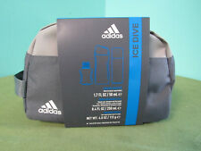 Adidas Ice Dive 3 Piece Gift Set Bath Bag Natural Spray Shower Gel & Deodorant