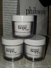 New! Lot of 3 Philosophy Renewed Hope In A Jar Dry Skin Moisturizer 2 oz. EACH!