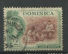 Dominica 1954 Sg 142, 2c Chocolate & Myrtle Green, Very fine used. [643]