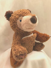 Zoobies Buddies Plush Hidden Tummy Storybook Brown Bear What Do You See Book